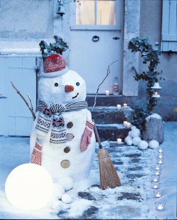 Greenderella cozy christmas inspiration - Bonhomme de neige decoration exterieure ...