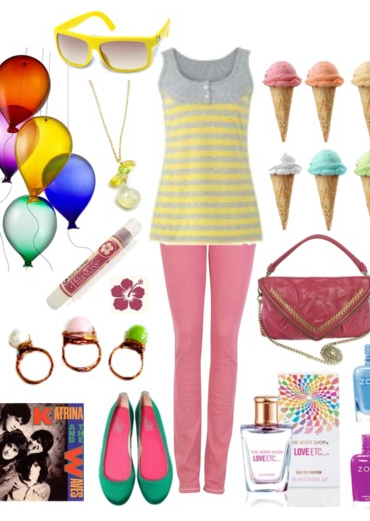 colorful outfit