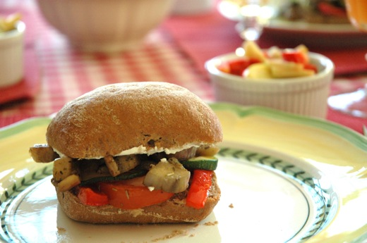 Grilled Vegetable Ciabatta