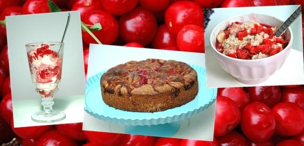 Cherry Gone Wild… Ice Cream Topping, Cherry Chocolate Cake and Cherry Banana Oatmeal