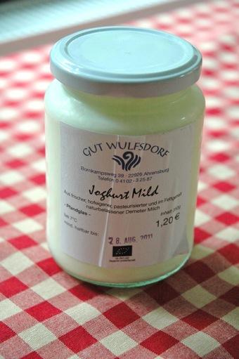 Organic joghurt from Gut Wulfsdorf