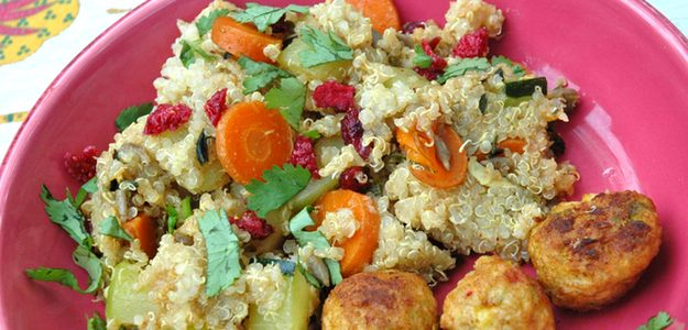 Quinoa With Veggies And Cranberries (Vegan)