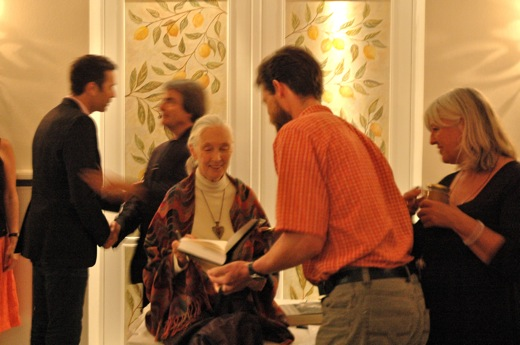 Jane Goodall signing books