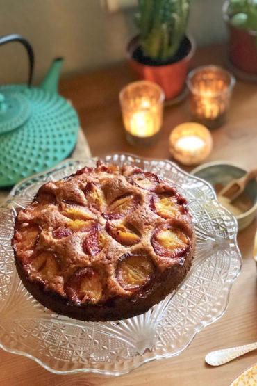 delicious vegan plum cake