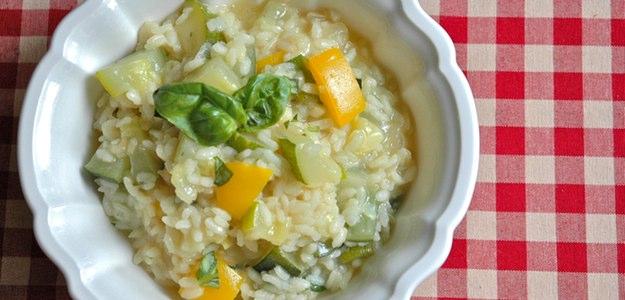Zucchini-Basil-Risotto (Vegan)