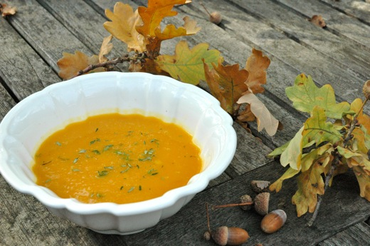 Butternut Squash – Carrot Soup With Ginger (Vegan)
