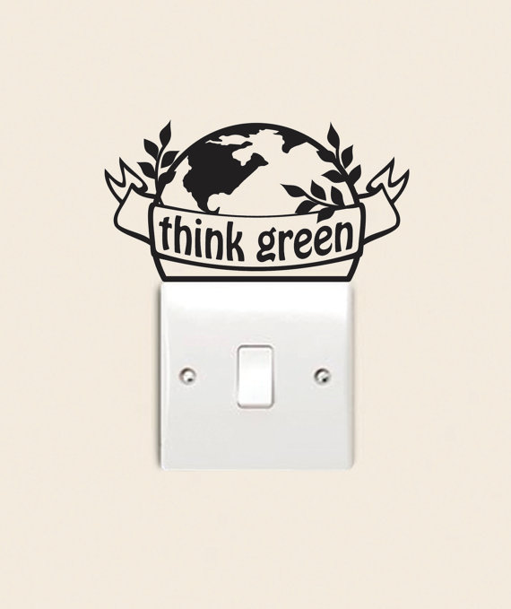 """Think green"" wall sticker"
