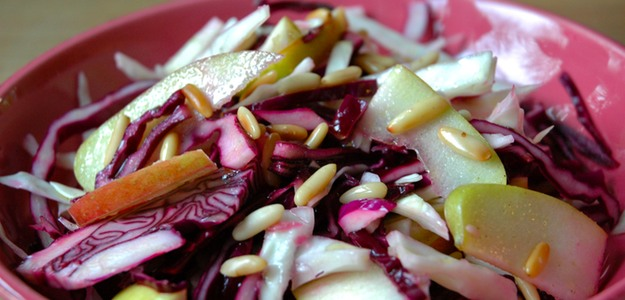 Colorful Cabbage Apple Salad