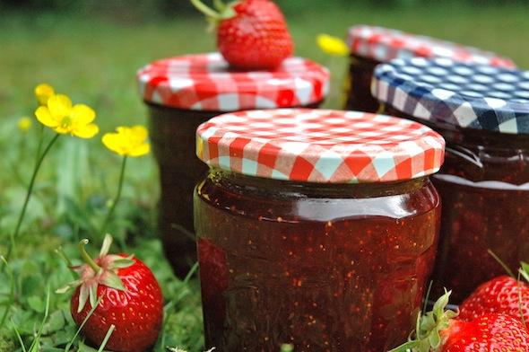 Back at home I made some strawberry jam