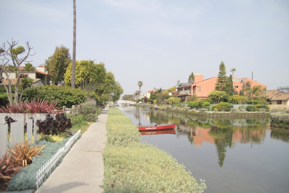 Taking a stroll at the Venice Canals