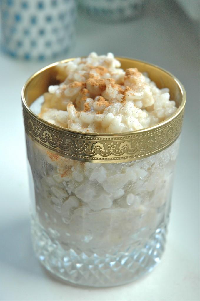 Milk rice with banana