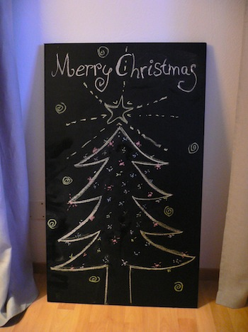 Our chalk christmas tree ; )