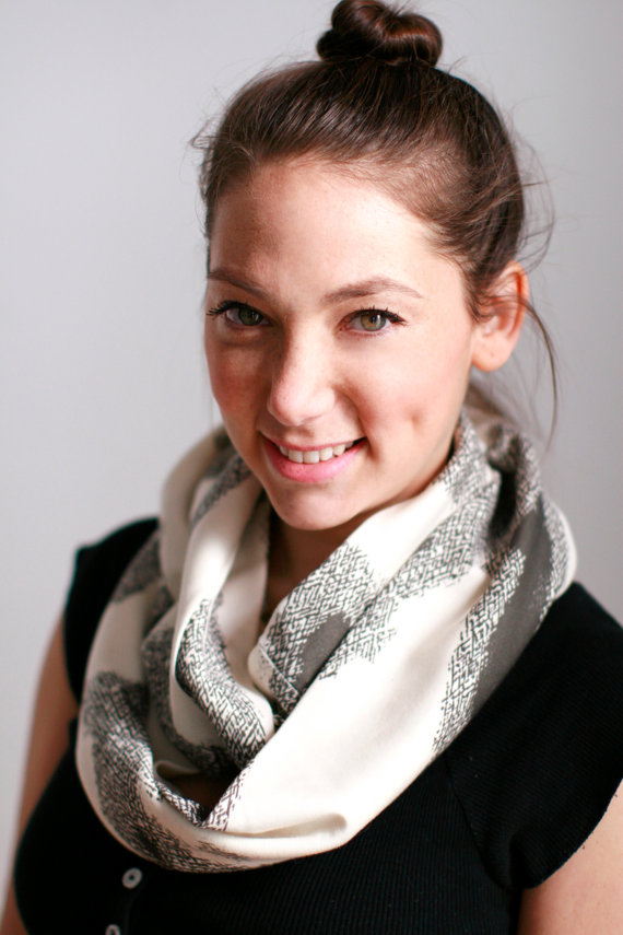 Eco friendly scarf / picture by Djuna Shay on Etsy