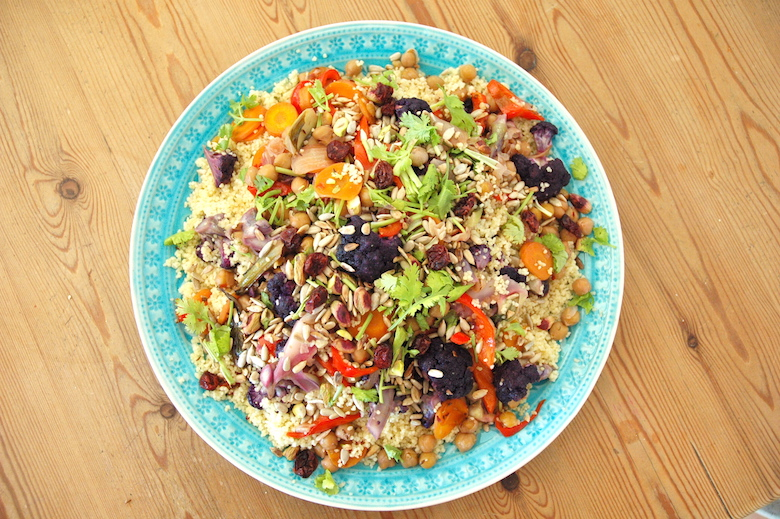 Colorful vegetable couscous