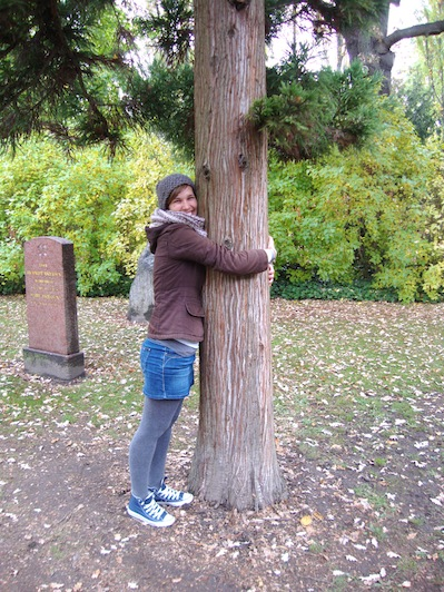 There was also some treehugging going on in Copenhagen! Nice hug Anna! ;)