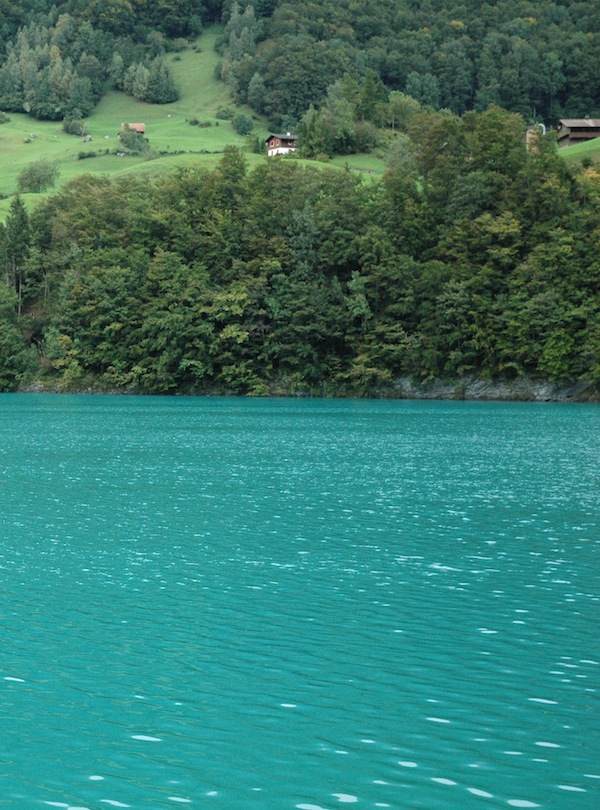 And drove by a lake that had this incredible color: