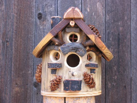 Bird house by Etsy Shop WildWestWoods