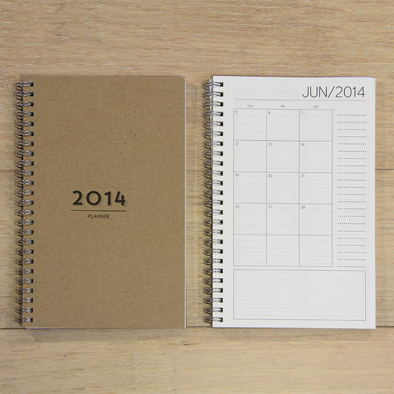 Planner 2014 from Etsy Shop REDSTARink