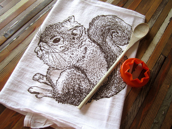 Tea towel by Etsy Shop ohlittlerabbit