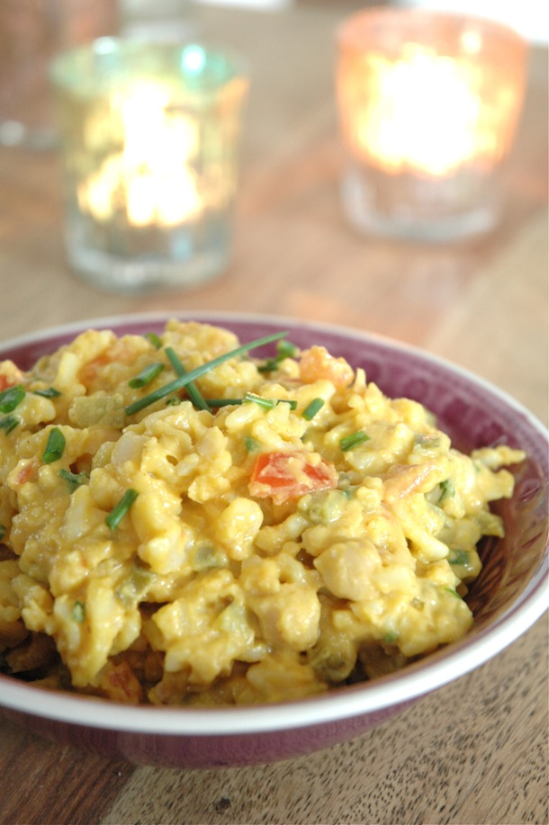 Tastes like egg salad, looks like egg salad... but it's vegan!