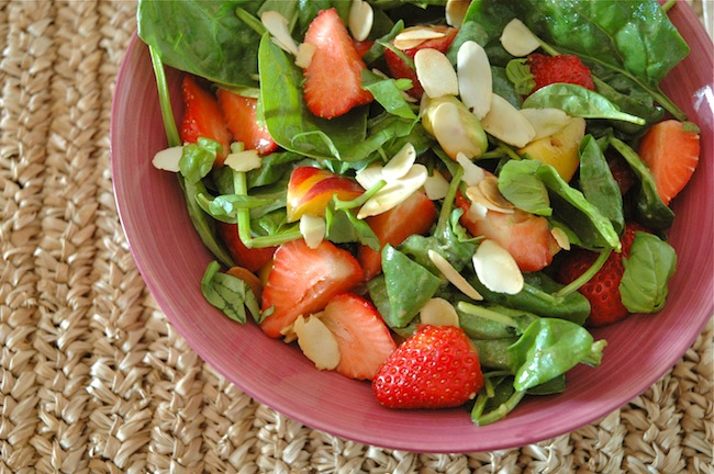 Spinach Strawberry Basil Salad