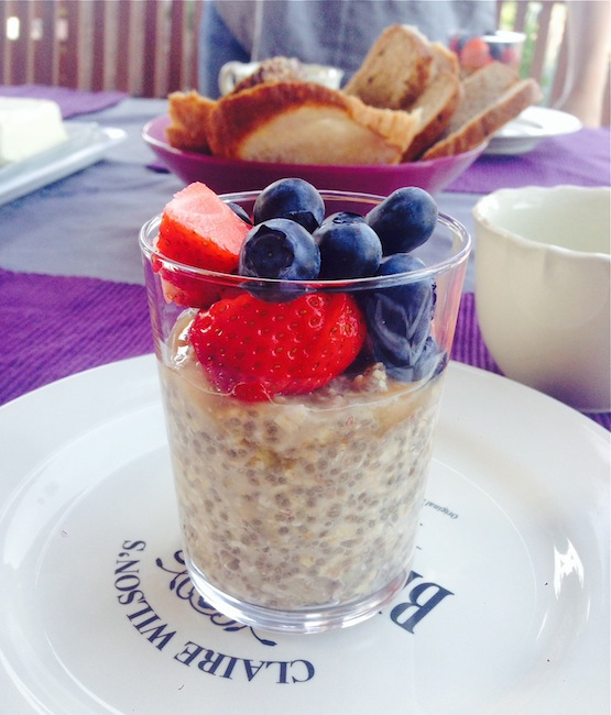 Chia oats from the Oh She Glows Cookbook