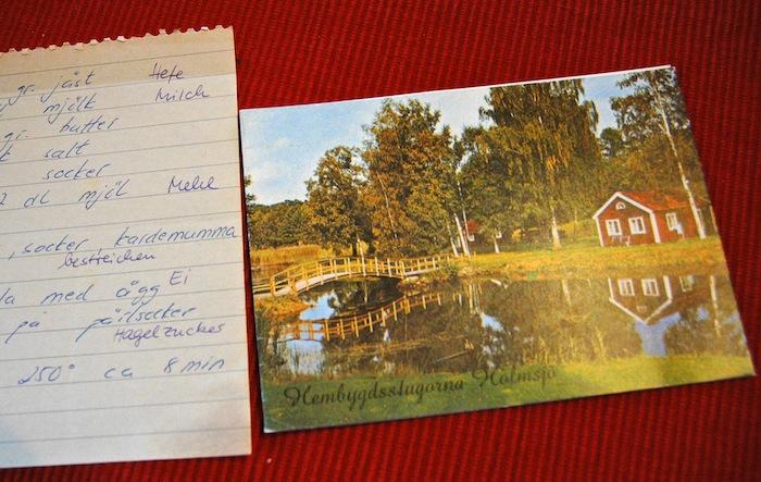 Postcard of the swedish Coffee Shop