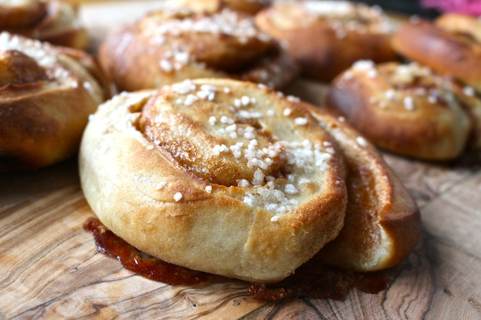 Traditional Swedish cinnamon roll