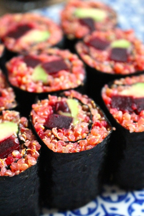 Sushi with quinoa instead of rice