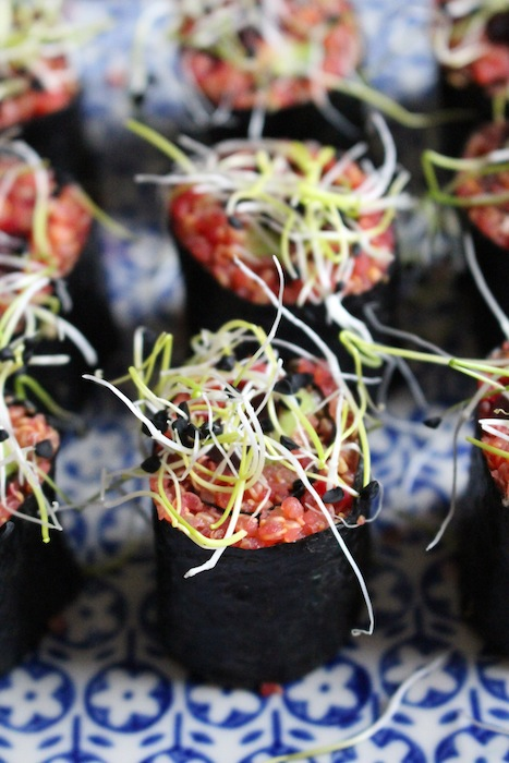 Colorful Vegan Sushi