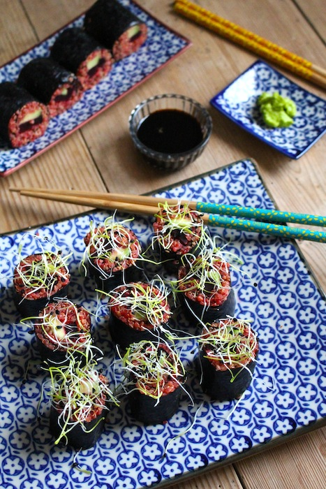 Quinoa Sushi with Red Beets & Avocado