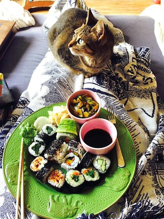 Veggie Sushi & good company :)