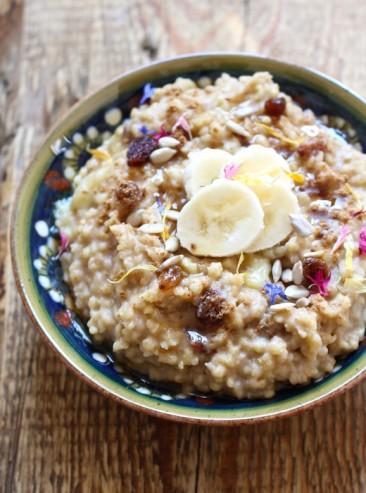 Creamy Cashew Millet Porridge