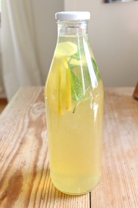 Lemon Ginger Mint Ice Tea
