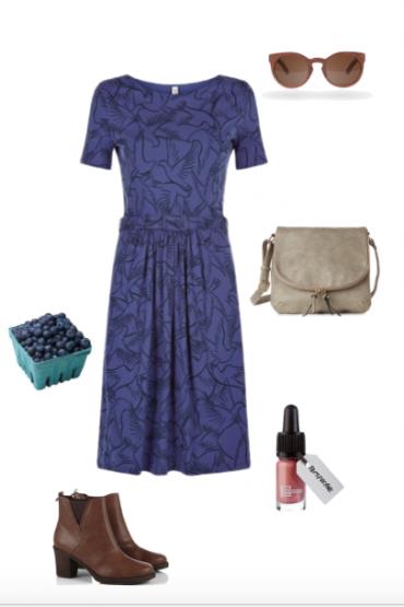 people tree blue dress