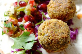 Pistachio Falafel with Pomegranate Salsa and Cashew Yogurt Sauce + Some Thoughts on Social Media
