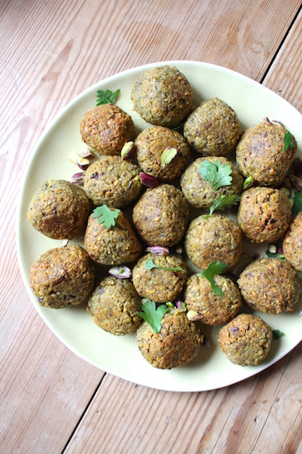 Pistachio falafel - so good!