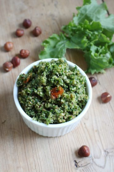 hazelnut kale pesto