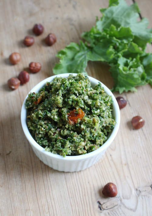 Roasted Hazelnut Kale Pesto