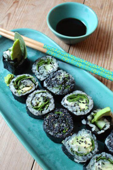 green veggie sushi