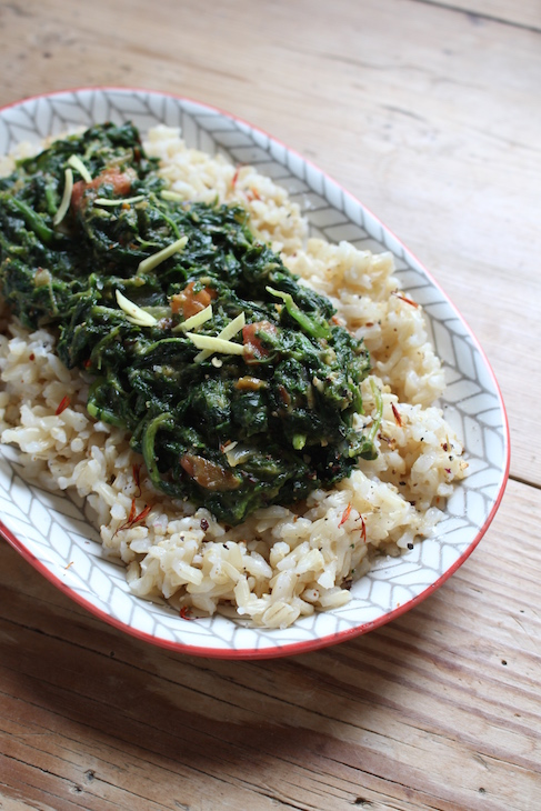 palak paneer without cheese