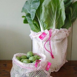 pink produce bags set of two