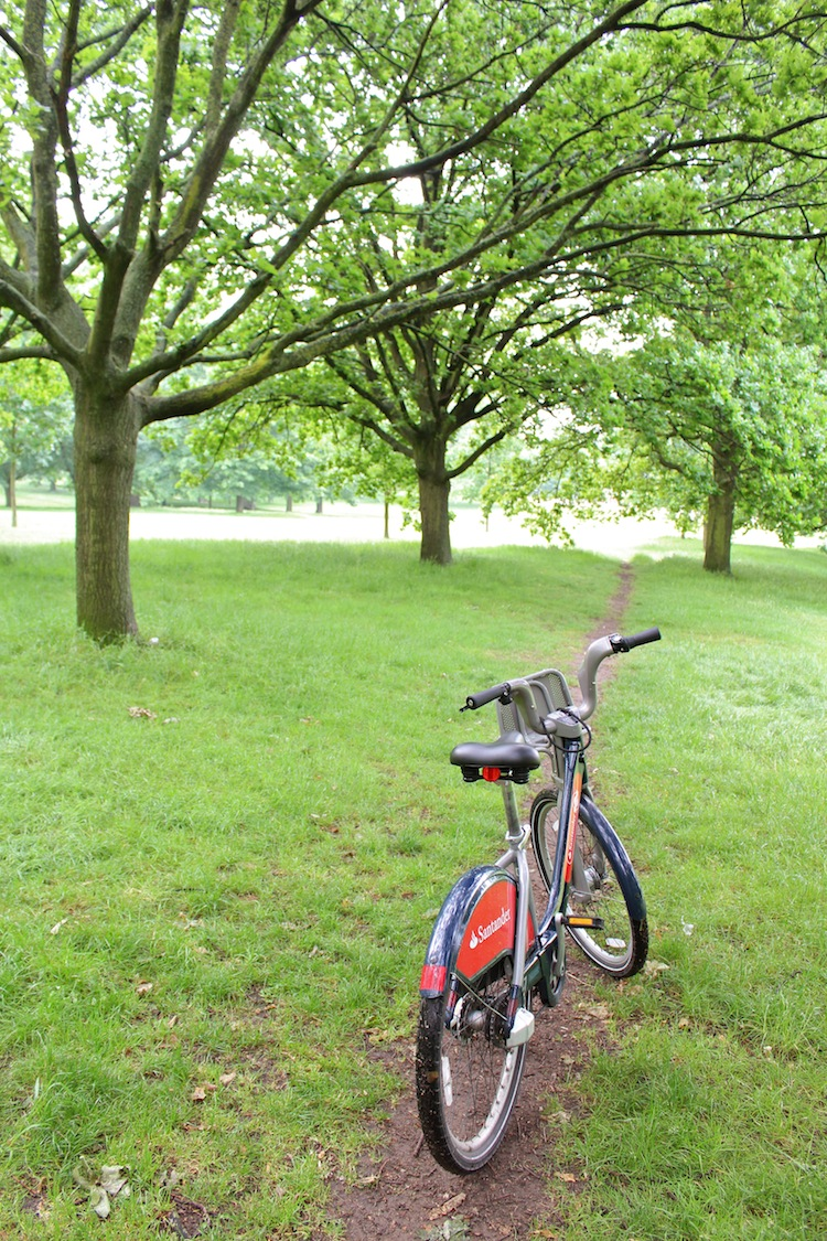 hyde park london bicycle