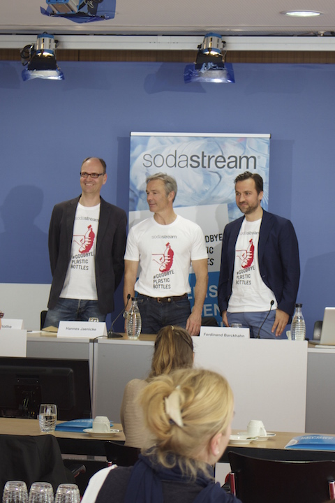 Press conference soda stream