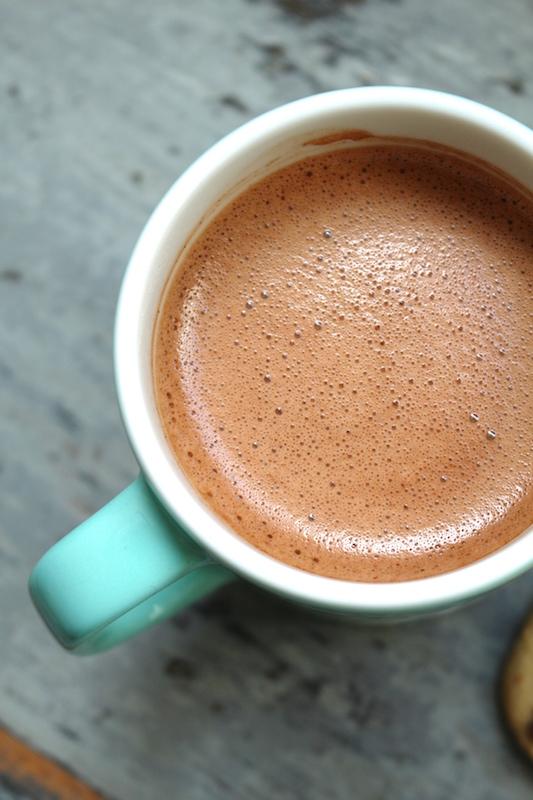 Hot maca chocolate