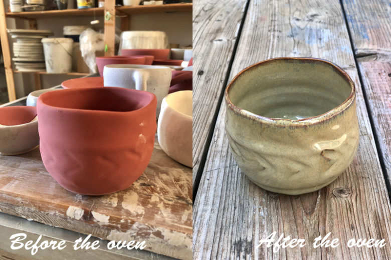 Before after pottery