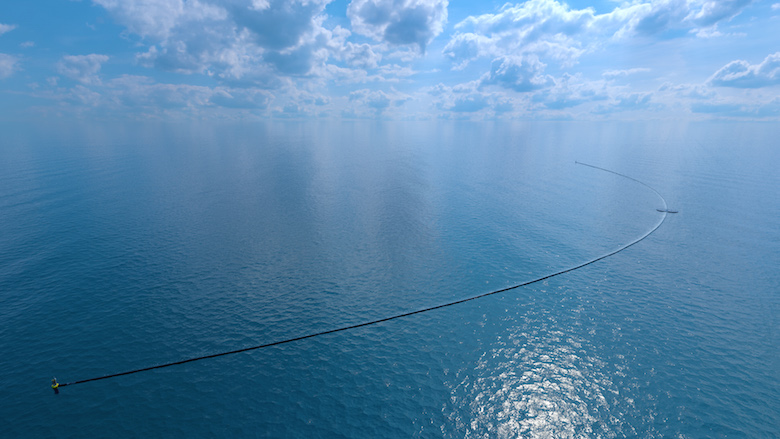 the ocean cleanup from above