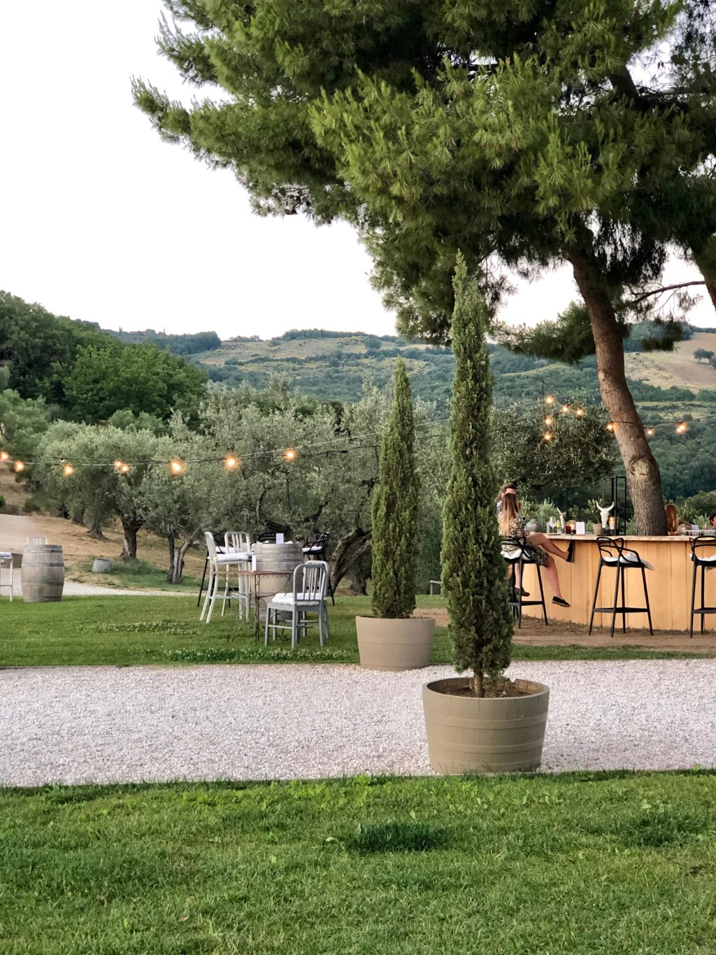 beautiful outdoor restaurant tuscany
