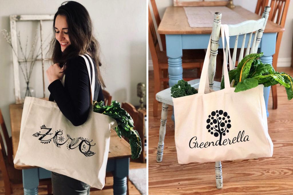 große Einkaufstasche aus bio Baumwolle